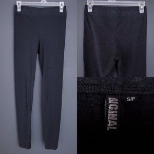 NICOLE MILLER Leggings Stretch Charcoal Gray S